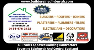 Builders In Edinburgh, Property renovation, property insurance repairs, property maintenance, refurbishment in Edinburgh